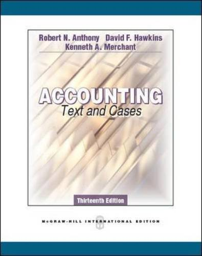 Accounting: Texts and Cases - Robert N Anthony