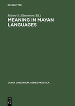Meaning in Mayan Languages: Ethnolinguistic Studies