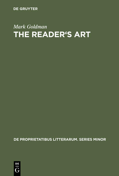 The Readers Art: Virginia Woolf as a Literary Critic