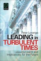 Leading in Turbulent Times:Lessons Learnt and Implications for the Future (Tourism Social Science)