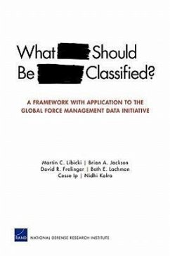 What Should Be Classified?: A Framework with Application to the Global Force Management Data Initiative - Libicki, Martin C. Jackson, Brian A. Frelinger, David R.