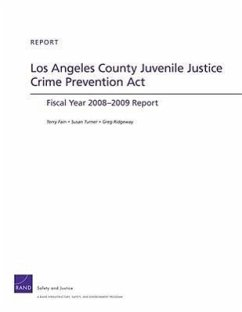 Los Angeles County Juvenile Justice Crime Prevention ACT: Fiscan Year 2008-2009 Report - Fain, Terry Turner, Susan Ridgeway, Greg