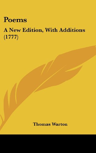 Poems: A New Edition, with Additions (1777)
