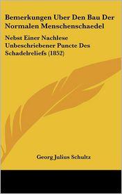 Bemerkungen Uber Den Bau Der Normalen Menschenschaedel: Nebst Einer Nachlese Unbeschriebener Puncte Des Schadelreliefs (1852)