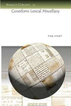 Cuneiform Lexical Miscellany - Haupt, Paul