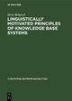 Linguistically motivated principles of knowledge base systems - Hans Weigand