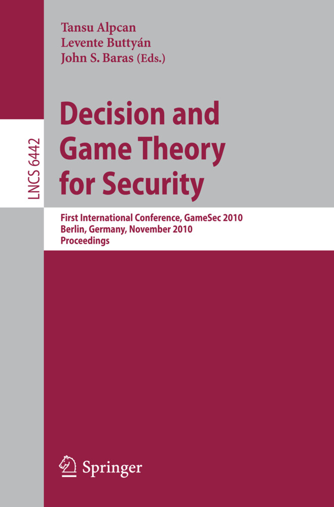 Decision and Game Theory for Security als Buch von