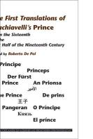 The First Translations of Machiavelli's Prince: From the Sixteenth to the first Half of the Nineteenth Century (Internationale Forschungen Zur ... Literaturwissenschaft, Band