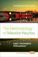 The Methodology of Maurice Hauriou: Legal, Sociological, Philosophical. (Value Inquiry Book)
