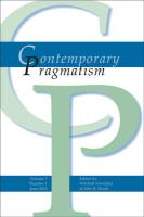 Contemporary Pragmatism. Volume 7, Number 1, June 2010.