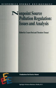 Nonpoint Source Pollution Regulation: Issues and Analysis Cesare Dosi Editor