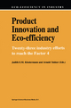 Product Innovation and Eco-Efficiency - Judith E.M. Klostermann; Arnold Tukker