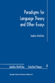 Paradigms for Language Theory and Other Essays - Jaakko Hintikka