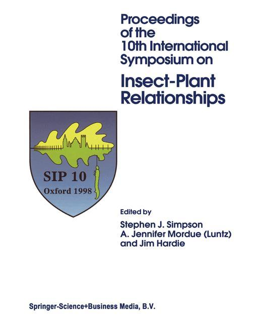 Proceedings of the 10th International Symposium on Insect-Plant Relationships als Buch von