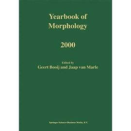 Yearbook of Morphology 2000 - Booij G.E.