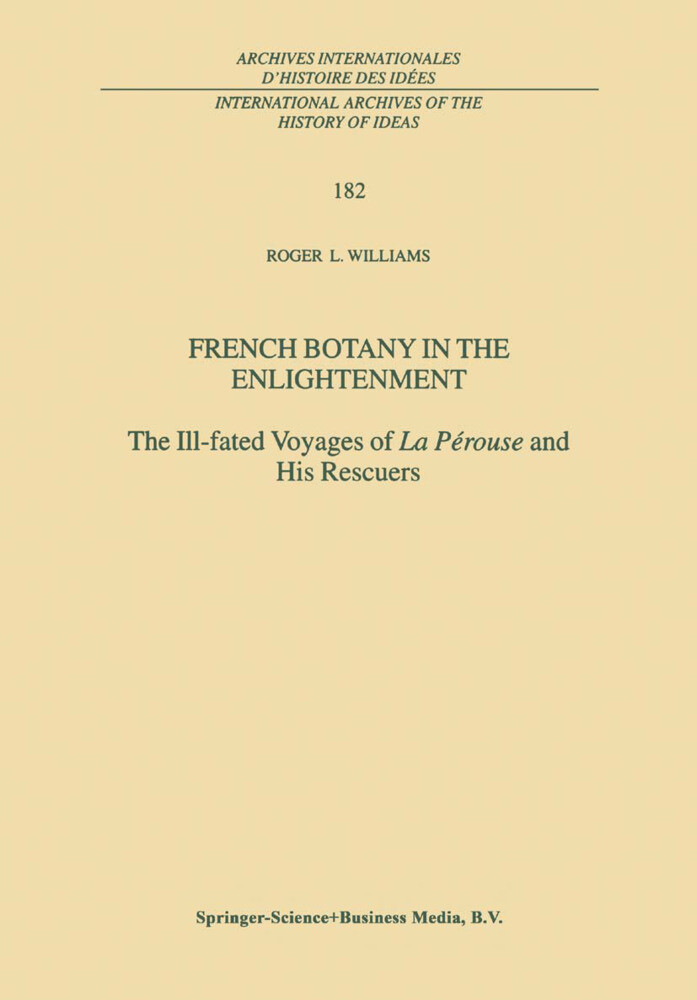 French Botany in the Enlightenment als Buch von R. L. Williams - R. L. Williams