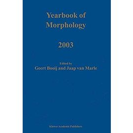 Yearbook of Morphology 2003 - Booij G.E.