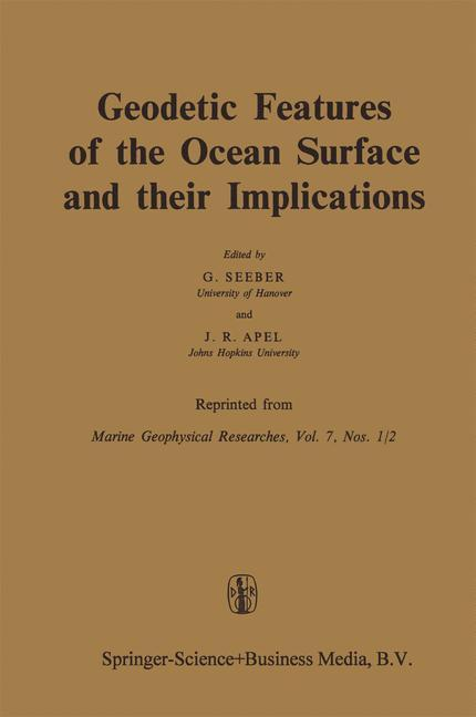 Geodetic Features of the Ocean Surface and their Implications als Buch von - Springer