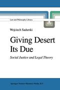 Sadurski, Wojciech: Giving Desert Its Due