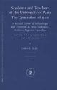 Students and Teachers at the University of Paris: the Generation of 1500 - James K. Farge