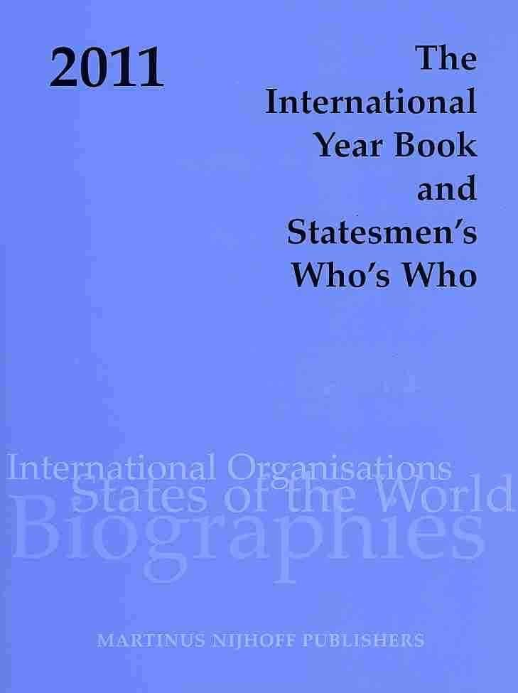 The International Year Book and Statesmen's Who's Who 2011 - Jennifer Dilworth