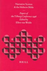 Narrative Syntax and the Hebrew Bible - Ellen Wolde (editor)