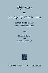 Diplomacy in an Age of Nationalism.  - Buch