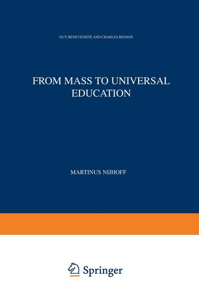 From Mass to Universal Education - G. Benveniste#Charles Benson