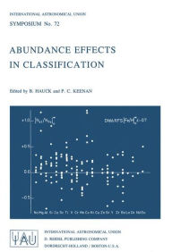 Abundance Effects in Classification: Dedicated to W.W. Morgan B. Hauck Editor