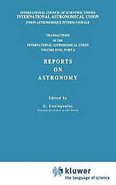 Transactions of the International Astronomical Union, Volume XVI: Reports on Astronomy, Part II.  - Buch