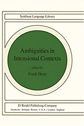Ambiguities in Intensional Contexts.  - Buch