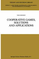 Cooperative Games, Solutions and Applications - Theo S. H. Driessen
