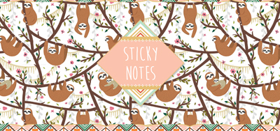 Sticky notes box Luiaard