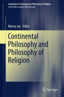 Handbook of Contemporary Philosophy of Religion 4