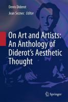 On Art And Artists: An Anthology Of Diderot's Aesthetic Thought