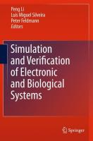 Advanced Simulation and Verification of Electronic and Biological Systems