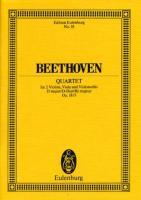 Streichquartett D-Dur: op. 18/3. Streichquartett. Studienpartitur. (Eulenburg Studienpartituren)