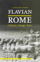 Flavian Rome: Culture, Image and Text