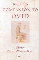 Brill's Companion to Ovid