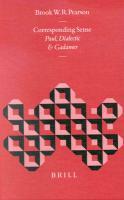 Corresponding Sense: Paul, Dialectic, and Gadamer