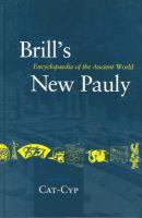 Brill's New Pauly, Antiquity, Volume 3 (Cat - Cyp)