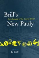 Brill's New Pauly, Antiquity, Volume 7 (K-Lyc)