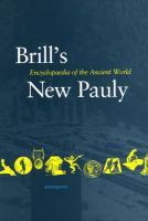 Brill's New Pauly, Antiquity, Volume 9 (Mini-Obe)