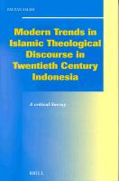 Modern Trends in Islamic Theological Discourse in 20th Century Indonesia