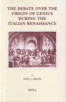 The Debate over the Origin of Genius during the Italian Renaissance