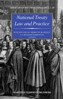 National Treaty Law and Practice: Dedicated to the Memory of Monroe Leigh Duncan Hollis Editor