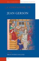 A Companion to Jean Gerson