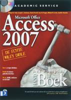 Het Complete HANDboek Access 2007 + CD-ROM / druk 1