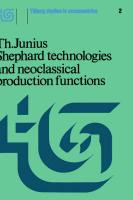 Shephard Technologies And Neoclassical Production Functions