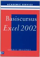 Basiscursus Excel 2002 / druk 1